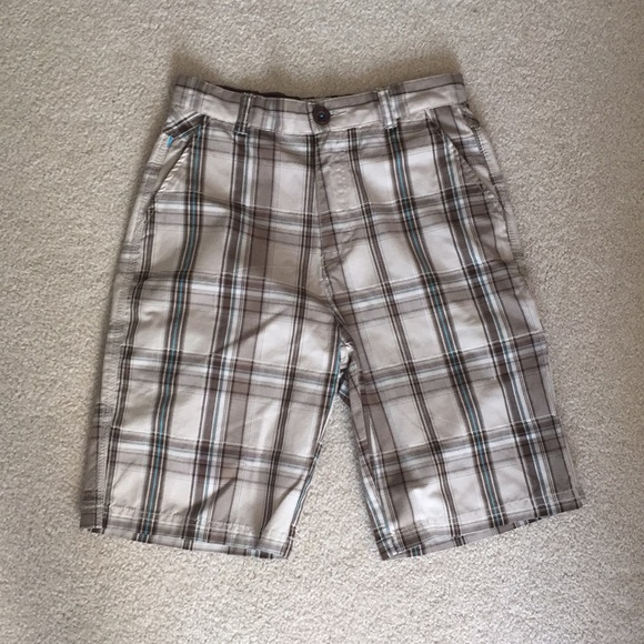 Micros Other - MICROS BOYS SHORTS, SIZE 14. TAN W/BROWN & BLUE.